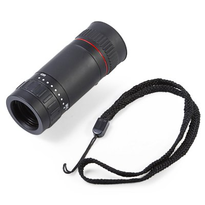 8 x 18 Multi-coated Monocular ScopeBinoculars and Telescopes<br>8 x 18 Multi-coated Monocular Scope<br><br>Type: Monoculars,Telescopes<br>For: Beach,Bird watching,Boating/Yachting,Horse racing,Hunting,Outdoor activities,Sports,Travel<br>Material: Rubber<br>Focusing System: Center Focus,Focusing with a Diopter,Individual Eyepiece Focus,ZOOM Stretch<br>Color: Black<br>Body Coated with Rubber: Yes<br>Amplification Factor: 8<br>Objective Lens (mm) : 20mm<br>Eyepiece Diameter: 18mm<br>Field of view: 131m/1000m<br>Field Angle(degree): 9 degree<br>Exit pupil diameter: 3mm<br>Exit pupil distance: 9mm<br>Coating Film: FMC Green and Blue<br>Product weight: 0.120 kg<br>Package weight: 0.170 kg<br>Product size (L x W x H): 3.00 x 3.00 x 8.00 cm / 1.18 x 1.18 x 3.15 inches<br>Package size (L x W x H): 4.50 x 4.50 x 11.00 cm / 1.77 x 1.77 x 4.33 inches<br>Package Contents: 1 x Monocular, 1 x Hanging Strap, 1 x Lens Cloth