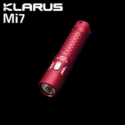 Klarus Mi7 Mini LED FlashlightLED Flashlights<br>Klarus Mi7 Mini LED Flashlight<br><br>Brand: KLARUS<br>Model: Mi7<br>Lamp Beads: Cree XP-L HI V3<br>Emitters Quantity: 1<br>Lumens Range: 500-1000Lumens<br>Luminous Flux: 700LM<br>Luminous Intensity: 3025cd<br>Power: 4W<br>Color Temperature: 6500K<br>Feature: Cooling Slot of High Efficiency,Lightweight,Lock-out Function,Power Indicator,Reverse Polarity Protection,Tail Stand<br>Function: Camping,EDC,Hiking,Household Use,Night Riding,Walking<br>Switch Type: Side Clicky<br>Mode: 5 (High - Low - Moonlight - Strobe - SOS)<br>Battery Type: 14500,AA<br>Battery Quantity: 1 x AA / 14500 battery (AA included)<br>Waterproof Standard: IPX-8 Standard Waterproof (Underwater 2m)<br>LED Lifespan: 50000h<br>Power Source: Battery<br>Working Voltage: 1-4.2V<br>Reflector: Aluminum Textured Orange Peel Reflector<br>Lens: Toughened Ultra-clear Mineral Glass Lens<br>Beam Distance: 100-150m<br>Impact Resistance: 1M<br>Body Material: AL 6061-T6 Aluminium Alloy<br>Available Light Color: Cool White<br>Available color: Army green,Black,Blue,Green,Pink,Red,Silver<br>Max.: 67h<br>Product weight: 0.026 kg<br>Package weight: 0.115 kg<br>Product size (L x W x H): 8.72 x 1.90 x 1.90 cm / 3.43 x 0.75 x 0.75 inches<br>Package size (L x W x H): 12.00 x 5.00 x 5.00 cm / 4.72 x 1.97 x 1.97 inches<br>Package Contents: 1 x Klarus Mi7 LED Flashlight ( with 1 x AA Battery ), 1 x Carabiner, 1 x O-ring