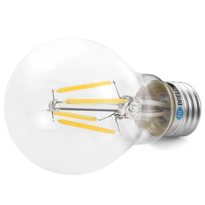 BRELONG A60 E27 4W COB 360Lm Dimmable LED Edison BulbLED Light Bulbs<br>BRELONG A60 E27 4W COB 360Lm Dimmable LED Edison Bulb<br><br>Brand: BRELONG<br>Holder: E27<br>Type: Edison Bulb<br>Output Power: 4W<br>Emitter Types: COB<br>Total Emitters: 4<br>Luminous Flux: 360LM<br>CCT/Wavelength: 3000-3500K,6000-6500K<br>Voltage (V): AC 220<br>Features: Dimming,Energy Saving,Long Life Expectancy,Retro Edison Style<br>Function: Commercial Lighting,Home Lighting,Studio and Exhibition Lighting<br>Available Light Color: Warm White,White<br>Sheathing Material: Glass<br>Product weight: 0.030 kg<br>Package weight: 0.065 kg<br>Product size (L x W x H): 10.50 x 6.00 x 6.00 cm / 4.13 x 2.36 x 2.36 inches<br>Package size (L x W x H): 11.50 x 7.00 x 7.00 cm / 4.53 x 2.76 x 2.76 inches<br>Package Contents: 1 x BRELONG LED Edison Bulb