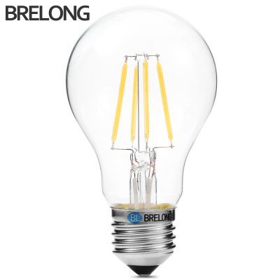 BRELONG E27 A60 4W 360Lm 4 x COB LED Edison Bulb Dimming