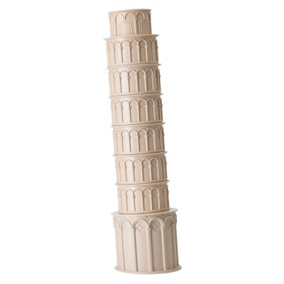 OUOH Pisa Tower Shaped Water Bottle Cup Set