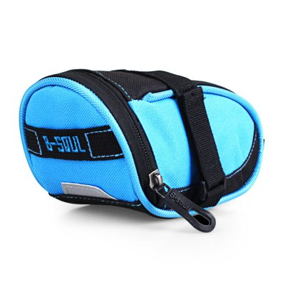 B - SOUL YA199 Wedge Bicycle Saddle BagBike Bags<br>B - SOUL YA199 Wedge Bicycle Saddle Bag<br><br>Brand: B-SOUL<br>Model Number: YA199<br>Suitable for: Cross-Country Cycling,Mountain Bicycle,Road Bike,Touring Bicycle<br>For: Unisex<br>Material: Nylon<br>Color: Black,Blue,Red<br>Emplacement: Saddle<br>Product weight: 0.085 kg<br>Package weight: 0.120 kg<br>Product Dimension: 23.00 x 8.30 x 8.00 cm / 9.06 x 3.27 x 3.15 inches<br>Package Dimension: 24.00 x 9.00 x 9.00 cm / 9.45 x 3.54 x 3.54 inches<br>Package Contents: 1 x Bicycle Saddle Bag