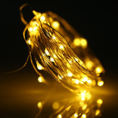 BRELONG 5M 50 LED Copper Wire String Light Battery Operated Remote Control