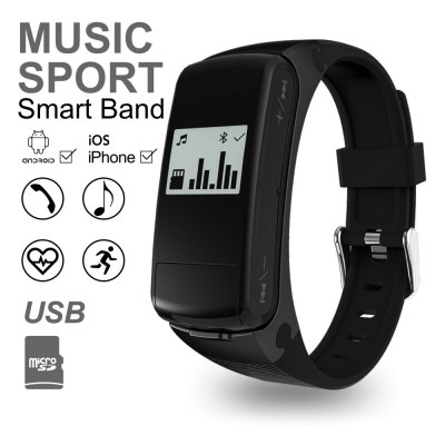 F50 Heart Rate Monitor U Disk Music Player Smart WristbandSmart Watches<br>F50 Heart Rate Monitor U Disk Music Player Smart Wristband<br><br>Alert type: Vibration<br>Available Color: Black,Silver<br>Band material: Silicone<br>Band size: 11.8 x 1.5 cm / 4.65 x 0.59 inches<br>Battery  Capacity: 150mAh<br>Bluetooth calling: Answering<br>Bluetooth Version: Bluetooth 4.0<br>Case material: ABS<br>Compatability: Android 4.3 / iOS 8.0 and above system<br>Compatible OS: Android, IOS<br>Dial size: 4.8 x 2.1 x 1.2 cm / 1.89 x 0.83 x 0.47 inches<br>External Memory: TF card up to 32GB<br>Health tracker: Heart rate monitor,Pedometer,Sedentary reminder,Sleep monitor<br>IP rating: Life Waterproof<br>Language: Czech,English,French,German,Italian,Japanese,Polish,Simplified Chinese,Spanish,Traditional Chinese<br>Locking screen : 1<br>Messaging: Message reminder<br>Operating mode: Touch Screen<br>Other Function: Alarm<br>Package Contents: 1 x F50 Smart Wristband, 1 x English User Manual, 1 x Charging Cable<br>Package size (L x W x H): 16.50 x 11.00 x 2.60 cm / 6.5 x 4.33 x 1.02 inches<br>Package weight: 0.1850 kg<br>People: Female table,Male table<br>Product size (L x W x H): 24.50 x 1.50 x 1.20 cm / 9.65 x 0.59 x 0.47 inches<br>Product weight: 0.0320 kg<br>Remote control function: Remote music<br>Screen resolution: 64 x 48<br>Shape of the dial: Rectangle<br>Waterproof: Yes