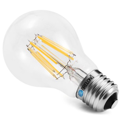 BRELONG E27 A60 8W 720Lm COB LED Filament Bulb DimmingLED Light Bulbs<br>BRELONG E27 A60 8W 720Lm COB LED Filament Bulb Dimming<br><br>Available Light Color: Warm White,White<br>Brand: BRELONG<br>CCT/Wavelength: 3000-3500K,6000-6500K<br>Emitter Types: COB<br>Features: Retro Edison Style, Long Life Expectancy, Energy Saving, Dimming<br>Function: Studio and Exhibition Lighting, Home Lighting, Commercial Lighting<br>Holder: E27<br>Luminous Flux: 720LM<br>Output Power: 8W<br>Package Contents: 1 x BRELONG LED Edison Bulb<br>Package size (L x W x H): 11.50 x 7.00 x 7.00 cm / 4.53 x 2.76 x 2.76 inches<br>Package weight: 0.0650 kg<br>Product size (L x W x H): 10.50 x 6.00 x 6.00 cm / 4.13 x 2.36 x 2.36 inches<br>Product weight: 0.0310 kg<br>Sheathing Material: Glass<br>Total Emitters: 8<br>Type: Edison Bulb<br>Voltage (V): AC 220