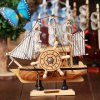 Music Box Boat Style Eight Tone Wood Kid Present / Educational Toy deal