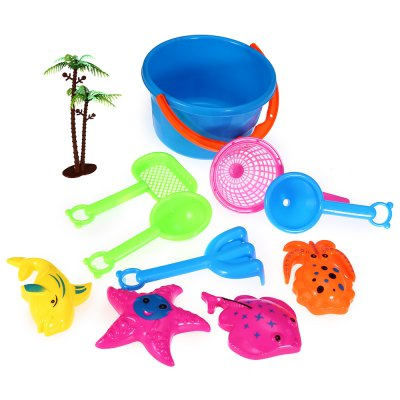 10pcs / Set Sand Beach Tool Kid Bucket Outdoor Toy for ChildOutdoor Fun &amp; Sports<br>10pcs / Set Sand Beach Tool Kid Bucket Outdoor Toy for Child<br><br>Materials: Plastic<br>Theme: Sport<br>Features: Creative Toy<br>Series: Entertainment<br>Package weight: 0.125 kg<br>Package size: 17.00 x 16.00 x 16.00 cm / 6.69 x 6.3 x 6.3 inches<br>Package Contents: 1 x Sand Beach Tool