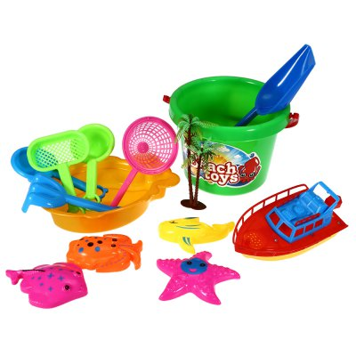 14pcs / Set Sand Beach Tool Kid Bucket Outdoor Toy for Child