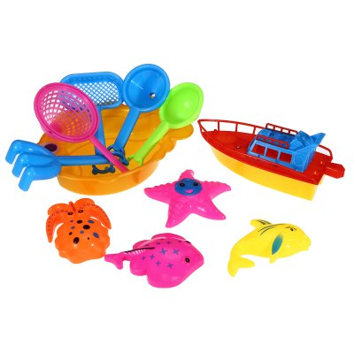 11pcs / Set Sand Beach Tool Kid Bucket Outdoor Toy for Child