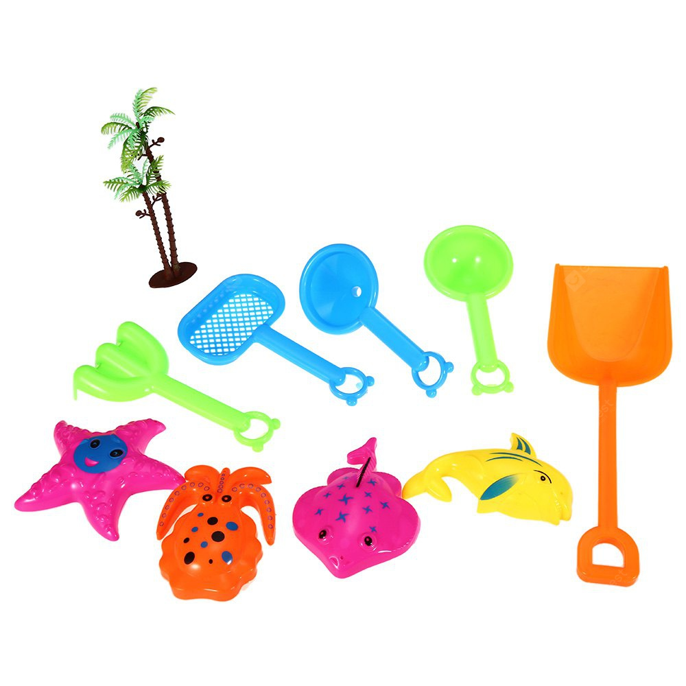 10pcs-Set Sand Beach Tool Kid Bucket Outdoor Toy for Child
