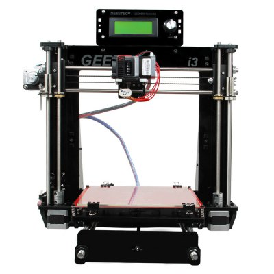 Geeetech I3 Pro B 3D Printer DIY Kit3D Printers, 3D Printer Kits<br>Geeetech I3 Pro B 3D Printer DIY Kit<br><br>Brand: Geeetech<br>File format: STL<br>Frame material: Acrylic plate<br>Host computer software: Printrun,Repetier-Host<br>Layer thickness: 0.1-0.3mm<br>LCD Screen: Yes<br>Material diameter: 1.75mm<br>Memory card offline print: SD card<br>Model: Pro B<br>Nozzle diameter: 0.3mm<br>Package size: 53.00 x 45.50 x 18.00 cm / 20.87 x 17.91 x 7.09 inches<br>Package weight: 9.5150 kg<br>Packing Contents: 1 x Geeetech I3 Pro B 3D Printer DIY Kit<br>Packing Type: unassembled packing<br>Platform board: Aluminum Sheet<br>Product forming size: 200 x 200mm x 180mm<br>Product size: 45.00 x 44.00 x 44.00 cm / 17.72 x 17.32 x 17.32 inches<br>Product weight: 8.5000 kg<br>Supporting material: PLA, ABS, Flexible PLA, Wood, Nylon<br>Type: DIY<br>Voltage: 12V