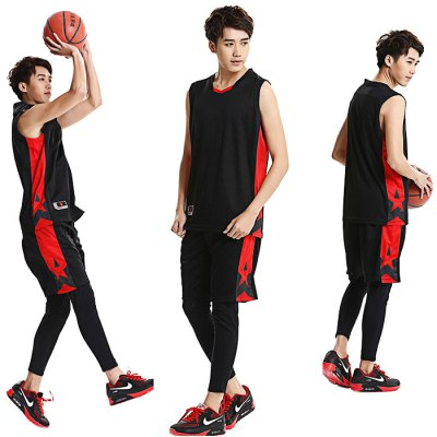 Men Breathable Sleeveless Basketball Suit for ExercisingWeight Lifting Clothes<br>Men Breathable Sleeveless Basketball Suit for Exercising<br><br>Color: Black,Blue,Red,White<br>Features: Breathable, Quick Dry<br>Gender: Men<br>Material: Polyester<br>Package Content: 1 x Sleeveless Tops, 1 x Short Pants<br>Package size: 40.00 x 30.00 x 9.00 cm / 15.75 x 11.81 x 3.54 inches<br>Package weight: 0.480 kg<br>Product weight: 0.400 kg
