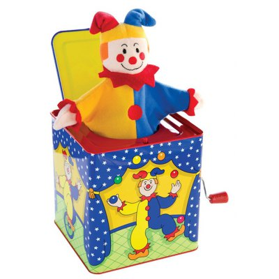 Adorable Clown Style Music Box for Children Birthday Gift