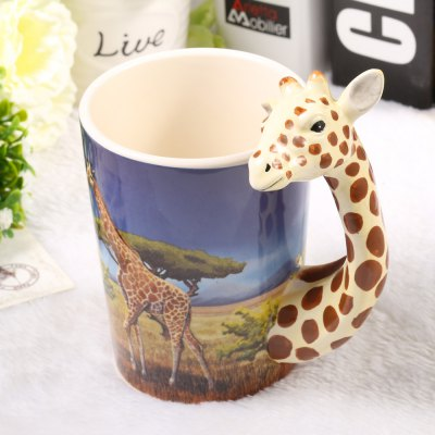Creative Giraffe Shaped Ceramic Mug