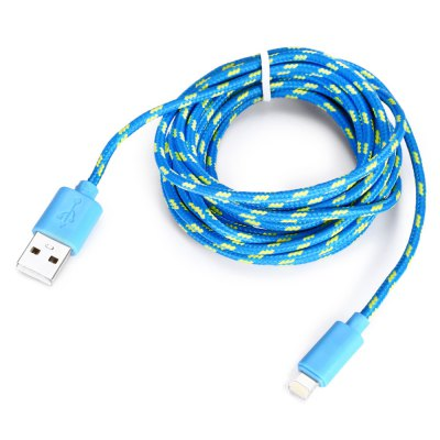2.9m 8 Pin USB Data Sync and Charging CableiPhone Cables &amp; Adapters<br>2.9m 8 Pin USB Data Sync and Charging Cable<br><br>Cable Length (cm): 290cm<br>Color: Black,Blue,Rose,White<br>Interface Type: 8 pin, USB 2.0<br>Mainly Compatible with: The New Ipad, iPhone 6S Plus, iPhone 6S, iPhone 6 Plus, iPhone 6, iPhone 5S, iPhone 5C, iPhone 5, Ipad Mini, iPad Air (iPad 5)<br>Material ( Cable&amp;Adapter): Nylon, Aluminum Alloy<br>Package Contents: 1 x 290cm Cable<br>Package size (L x W x H): 18.00 x 11.00 x 3.00 cm / 7.09 x 4.33 x 1.18 inches<br>Package weight: 0.0840 kg<br>Product size (L x W x H): 290.00 x 1.50 x 0.80 cm / 114.17 x 0.59 x 0.31 inches<br>Product weight: 0.0500 kg<br>Type: Cable