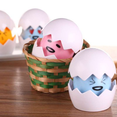 Touch Sensor DIY LED Night Light Egg Lamp with Cartoon Sticker