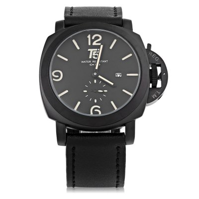 T5 H3435G Casual Small Pointer Dial Men Quartz Watch