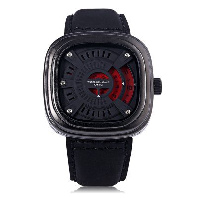 T5 H3453G Casual Hollow-out Seconds Dial 3ATM Men Quartz WatchMens Watches<br>T5 H3453G Casual Hollow-out Seconds Dial 3ATM Men Quartz Watch<br><br>Watches categories: Male table<br>Watch style: Casual<br>Available color: Gold,Red,Silver,Yellow<br>Movement type: Quartz watch<br>Shape of the dial: Square<br>Display type: Analog<br>Case material: Stainless Steel<br>Band material: Genuine Leather<br>Clasp type: Pin buckle<br>Water resistance : 30 meters<br>Dial size: 5 x 5 x 1.2 cm / 1.97 x 1.97 x 0.47 inches<br>Band size: 25.7 x 2.8 cm / 10.12 x 1.10 inches<br>Wearable length: 18.5 - 23.5 cm / 7.28 - 9.25 inches<br>Product weight: 0.096 kg<br>Package weight: 0.133 kg<br>Product size (L x W x H): 25.70 x 5.00 x 1.20 cm / 10.12 x 1.97 x 0.47 inches<br>Package size (L x W x H): 26.70 x 6.00 x 2.20 cm / 10.51 x 2.36 x 0.87 inches<br>Package Contents: 1 x T5 H3453G Casual Men Quartz Watch, 1 x Chinese English User Manual