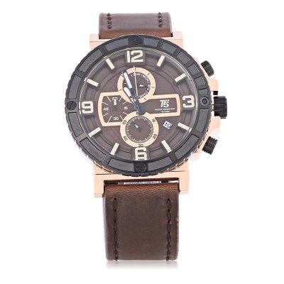 T5 H3452G Casual Date Working Sub-dial 3ATM Men Quartz WatchMens Watches<br>T5 H3452G Casual Date Working Sub-dial 3ATM Men Quartz Watch<br><br>Brand: T5<br>Watches categories: Male table<br>Watch style: Casual<br>Available color: Black,Gold,Orange,Silver,Yellow<br>Movement type: Quartz watch<br>Shape of the dial: Round<br>Display type: Analog<br>Case material: Stainless Steel<br>Band material: Genuine Leather<br>Clasp type: Pin buckle<br>Special features: Date,Day,Working sub-dial<br>Water resistance : 30 meters<br>Dial size: 5.3 x 5.3 x 1.1 cm / 2.09 x 2.09 x 0.43 inches<br>Band size: 28 x 2.3 cm / 11.02 x 0.91 inches<br>Wearable length: 19.7 - 25.4 cm / 7.76 - 10 inches<br>Product weight: 0.096 kg<br>Package weight: 0.132 kg<br>Product size (L x W x H): 28.00 x 5.30 x 1.10 cm / 11.02 x 2.09 x 0.43 inches<br>Package size (L x W x H): 29.00 x 6.30 x 2.10 cm / 11.42 x 2.48 x 0.83 inches<br>Package Contents: 1 x T5 H3452G Casual Men Quartz Watch, 1 x Chinese English User Manual