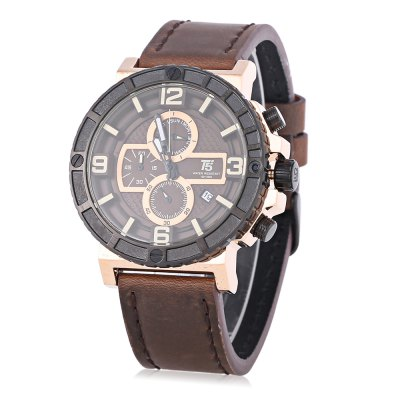 T5 H3452G Casual Date Working Sub-dial 3ATM Men Quartz Watch