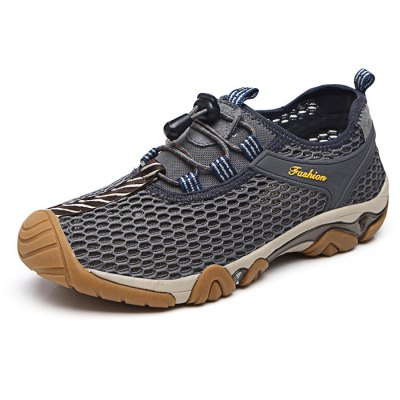 Male Breathable Upstream Shoes with Breathable Mesh UpperShoes<br>Male Breathable Upstream Shoes with Breathable Mesh Upper<br><br>Features: Breathable,Durable,Water Resistant<br>Size: 41,42,43,44<br>Gender: Men<br>Season: Autumn,Spring,Summer,Winter<br>Closure Type: Lace-Up<br>Color: Gray,Khaki<br>Product weight: 0.550 kg<br>Package weight: 0.850 kg<br>Package size: 32.00 x 22.00 x 12.00 cm / 12.6 x 8.66 x 4.72 inches<br>Package Contents: 1 x Pair of Upstream Shoes