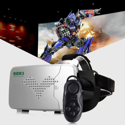 RITECH Riem III Virtual Reality 3D VR Glasses with Remote Control