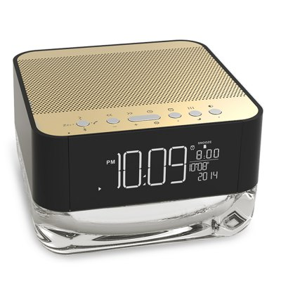 JK303 Bluetooth Speaker Wireless Music PlayerSpeakers<br>JK303 Bluetooth Speaker Wireless Music Player<br><br>Model: JK303<br>Design: Stylish<br>Compatible with: iPhone,Laptop,Mobile phone,PC<br>Supports: Bluetooth,FM,Hands-free Calls,LED Shinning<br>Connection: Wireless<br>Audio Source: Bluetooth Enabled Devices<br>Bluetooth version: Bluetooth 2.1<br>Power Source: USB<br>Product weight: 0.980 kg<br>Package weight: 1.120 kg<br>Product size (L x W x H): 12.70 x 12.70 x 8.00 cm / 5 x 5 x 3.15 inches<br>Package size (L x W x H): 20.00 x 14.00 x 9.50 cm / 7.87 x 5.51 x 3.74 inches<br>Package Contents: 1 x Bluetooth 2.1 Speaker, 1 x Remote Control, 1 x Power Adapter, 1 x Audio Line