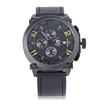 T5 H3434G Casual Working Sub-dial 3ATM Men Quartz WatchMens Watches<br>T5 H3434G Casual Working Sub-dial 3ATM Men Quartz Watch<br><br>Band material: Genuine Leather<br>Band size: 25.5 x 2.4 cm / 10.04 x 0.94 inches<br>Brand: T5<br>Case material: Stainless Steel<br>Clasp type: Pin buckle<br>Dial size: 5.2 x 5.2 x 1.3 cm / 2.05 x 2.05 x 0.51 inches<br>Display type: Analog<br>Movement type: Quartz watch<br>Package Contents: 1 x T5 H3434G Casual Men Quartz Watch, 1 x Chinese English User Manual<br>Package size (L x W x H): 26.50 x 6.20 x 2.30 cm / 10.43 x 2.44 x 0.91 inches<br>Package weight: 0.123 kg<br>Product size (L x W x H): 25.50 x 5.20 x 1.30 cm / 10.04 x 2.05 x 0.51 inches<br>Product weight: 0.086 kg<br>Shape of the dial: Round<br>Special features: Date, Working sub-dial<br>Watch color: Yellow, Red, Orange, Off-white, Brown<br>Watch style: Casual<br>Watches categories: Male table<br>Water resistance : 30 meters<br>Wearable length: 18 - 23.5 cm / 7.09 - 9.25 inches