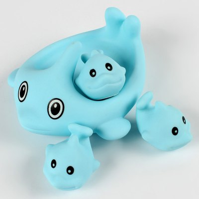 4pcs Soft Dolphin Float Bath Shower Toy for Kid Baby