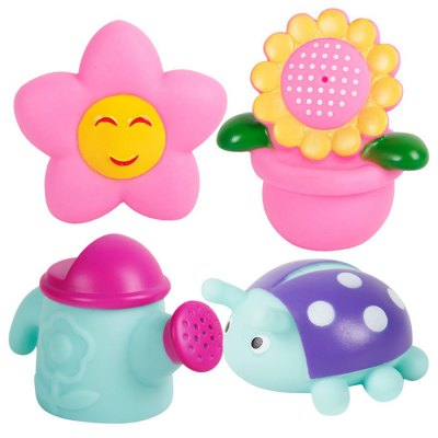 4pcs Sunflower Float Bath Shower Squeeze Toy for Kid Baby