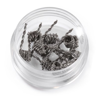 Prebuilt Kanthal A1 Taiji CoilAccessories<br>Prebuilt Kanthal A1 Taiji Coil<br><br>Accessories type: Wicks/Wires<br>Available Color: Silver<br>Material: Kanthal<br>Package Contents: 1 x Prebuilt Taiji Coil Box ( with 10pcs 0.25ohm Heating Wire )<br>Package size (L x W x H): 5.00 x 5.00 x 3.50 cm / 1.97 x 1.97 x 1.38 inches<br>Package weight: 0.035 kg<br>Product size (L x W x H): 4.00 x 4.00 x 2.50 cm / 1.57 x 1.57 x 0.98 inches<br>Product weight: 0.015 kg<br>Resistance : 0.25ohm<br>Type: Electronic Cigarettes Accessories
