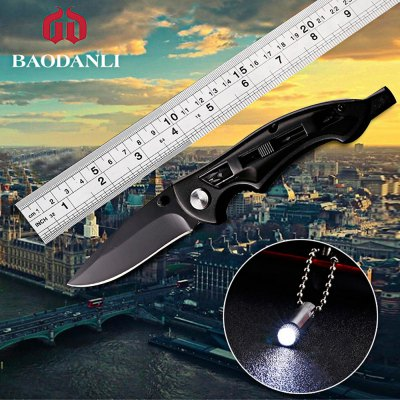 BAODANLI GJ - 02 Liner Lock LED Folding Knife