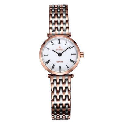 BUREI Retro Women Quartz Watch with Sapphire MirrorWomens Watches<br>BUREI Retro Women Quartz Watch with Sapphire Mirror<br><br>Watches categories: Female table<br>Watch style: Retro<br>Watch color: White + Gold, White + Rose Gold, Silver, Gold<br>Movement type: Quartz watch<br>Watch mirror: Sapphire<br>Shape of the dial: Round<br>Display type: Analog<br>Case material: Stainless Steel<br>Band material: Stainless Steel<br>Clasp type: Butterfly clasp<br>Water resistance : 100 meters<br>Dial size: 2.5 x 2.5 x 0.62 cm / 0.98 x 0.98 x 0.24 inches<br>Band size: 20.5 x 1.2 cm / 8.07 x 0.47 inches<br>Product weight: 0.052 kg<br>Package weight: 0.112 kg<br>Product size (L x W x H): 20.50 x 2.50 x 0.62 cm / 8.07 x 0.98 x 0.24 inches<br>Package size (L x W x H): 28.00 x 8.00 x 3.50 cm / 11.02 x 3.15 x 1.38 inches<br>Package Contents: 1 x BUREI Retro Women Quartz Watch