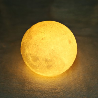 BRELONG Rechargeable Moon Shaped LED Night Light 3D Printing