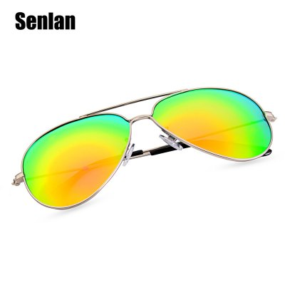 Senlan 9326P4 Reflective SunglassesStylish Sunglasses<br>Senlan 9326P4 Reflective Sunglasses<br><br>Brand: SENLAN<br>Ear-stems Length: 13 cm<br>Features: Anti-UV, Polarized, UV400<br>Frame Color: Silver<br>Frame Metarial: Metal<br>Gender: Unisex<br>Lens height: 5 cm<br>Lens material: TAC<br>Lens width: 6 cm<br>Model Number: 9326P4<br>Nose bridge width: 1.5 cm<br>Package Contents: 1 x Senlan 9326P4 Sunglasses,1 x Glasses Case,1 x Glasses Cloth<br>Package Dimension: 16.00 x 6.00 x 1.50 cm / 6.3 x 2.36 x 0.59 inches<br>Package weight: 0.0460 kg<br>Product Dimension: 15.00 x 5.00 x 0.50 cm / 5.91 x 1.97 x 0.2 inches<br>Product weight: 0.0160 kg<br>Whole Length: 15 cm