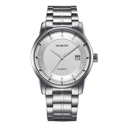 OCHSTIN Sapphire Mirror Automatic Mechanical Men WatchMens Watches<br>OCHSTIN Sapphire Mirror Automatic Mechanical Men Watch<br><br>Band material: Stainless Steel<br>Band size: 23 x 2 cm / 9.06 x 0.79 inches<br>Case material: Stainless Steel<br>Clasp type: Butterfly clasp<br>Dial size: 4.4 x 4.4 x 1.2 cm / 1.73 x 1.73 x 0.47 inches<br>Display type: Analog<br>Movement type: Automatic mechanical watch<br>Package Contents: 1 x OCHSTIN Automatic Mechanical Men Watch<br>Package size (L x W x H): 28.00 x 8.00 x 3.50 cm / 11.02 x 3.15 x 1.38 inches<br>Package weight: 0.214 kg<br>Product size (L x W x H): 23.00 x 4.40 x 1.20 cm / 9.06 x 1.73 x 0.47 inches<br>Product weight: 0.154 kg<br>Shape of the dial: Round<br>Special features: Date<br>Watch color: White, Black, White + Gold, Black + Rose Gold, White + Rose Gold<br>Watch mirror: Sapphire<br>Watch style: Business<br>Watches categories: Male table<br>Water resistance : 30 meters