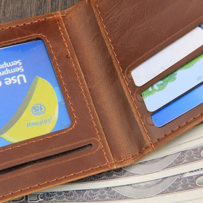 Retro Men PU Wallet Short Money Clips with Hasp ClosureWallets<br>Retro Men PU Wallet Short Money Clips with Hasp Closure<br><br>Color: Coffee<br>Material: PU<br>Package Size(L x W x H): 25.00 x 15.00 x 2.00 cm / 9.84 x 5.91 x 0.79 inches<br>Package weight: 0.120 kg<br>Packing List: 1 x Man Wallet<br>Product Size(L x W x H): 12.50 x 10.00 x 2.00 cm / 4.92 x 3.94 x 0.79 inches<br>Product weight: 0.050 kg<br>Style: Business, Casual