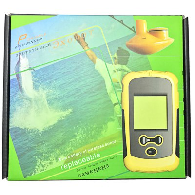 JL - 68 Fish FinderFishing Tools and Accessories<br>JL - 68 Fish Finder<br><br>Package Contents: 1 x Wireless Remote Sonar Sensor, 1 x Neck Strap, 1 x Handheld Device, 1 x Operation Manual, 1 x CR - 2032 Battery<br>Package size (L x W x H): 18.50 x 16.50 x 5.50 cm / 7.28 x 6.5 x 2.17 inches<br>Package weight: 0.300 kg<br>Product size (L x W x H): 12.00 x 7.00 x 3.00 cm / 4.72 x 2.76 x 1.18 inches<br>Product weight: 0.150 kg