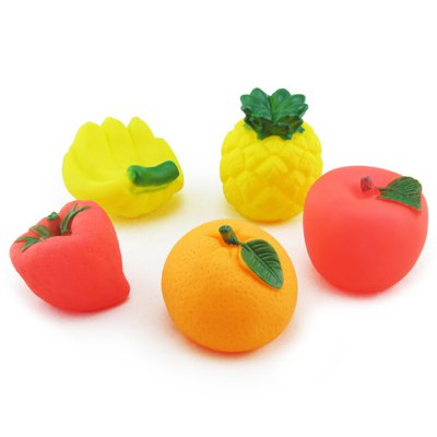 5pcs Fruit Shape Float Bath Shower Toy for Baby InfantOutdoor Fun &amp; Sports<br>5pcs Fruit Shape Float Bath Shower Toy for Baby Infant<br><br>Features: Bath / Wash<br>Materials: Other<br>Package Contents: 5 x Bath Toy<br>Package size: 17.00 x 13.00 x 7.00 cm / 6.69 x 5.12 x 2.76 inches<br>Package weight: 0.160 kg<br>Series: Entertainment<br>Theme: Animals