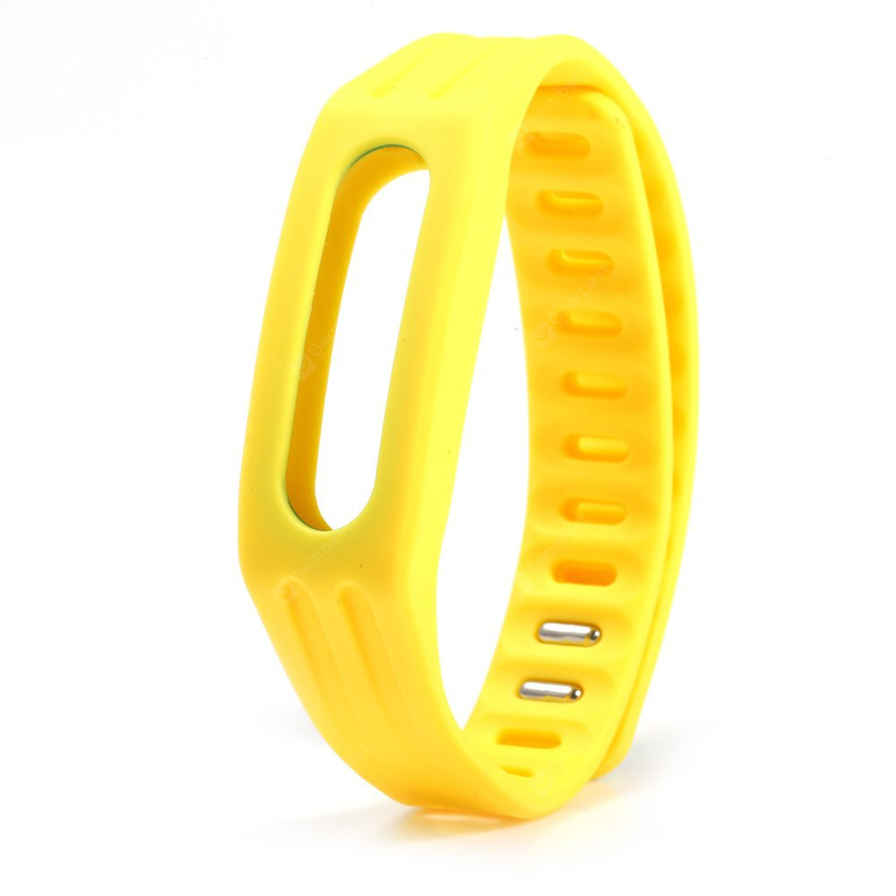 Bright Color Silicone Watch Strap Xiaomi Miband 1 YELLOW