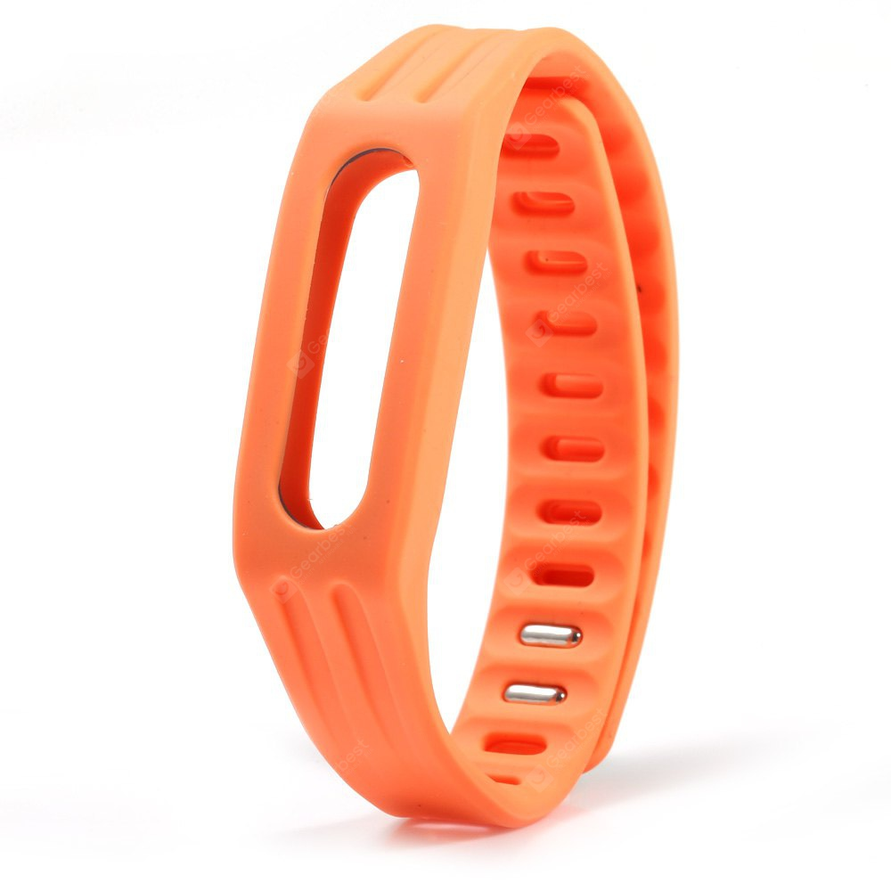 Bright Color Silicone Watch Strap Xiaomi Miband 1 SWEET ORANGE