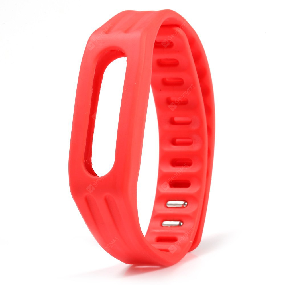 Bright Color Silicone Watch Strap Xiaomi Miband 1 RED