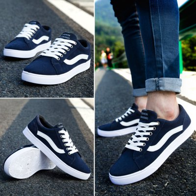 Casual Breathable Canvas Shoes For Male