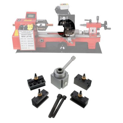CC15 Quick Change Tool Post SetOther Tools<br>CC15 Quick Change Tool Post Set<br><br>Model: CC15<br>Type: Other hardware tools<br>Color: Multi-color<br>Special Functions : Quick Change Tool Post Set<br>Product weight: 0.500 kg<br>Package weight: 0.700 kg<br>Product size (L x W x H): 10.00 x 5.00 x 5.00 cm / 3.94 x 1.97 x 1.97 inches<br>Package size (L x W x H): 14.00 x 14.00 x 7.00 cm / 5.51 x 5.51 x 2.76 inches<br>Package Contents: 1 x Tool Post, 1 x 3/8 inch Borehole Knife Holder, 1 x 1/2 inch Cutting Off Knife Holder, 2 x Turning Knife Holder, 2 x Fixed Bolt
