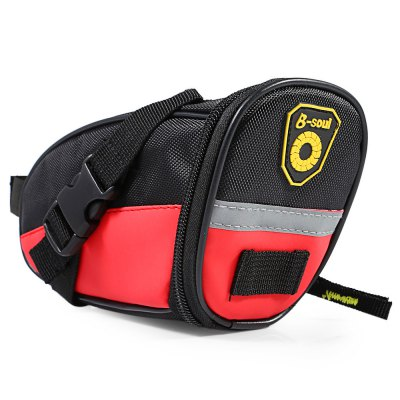 B - SOUL YA080 Bicycle Saddle BagBike Bags<br>B - SOUL YA080 Bicycle Saddle Bag<br><br>Brand: B-SOUL<br>Model Number: YA080<br>Suitable for: Cross-Country Cycling,Mountain Bicycle,Road Bike,Touring Bicycle<br>Color: Black,Blue,Red<br>Emplacement: Saddle<br>Product weight: 0.117 kg<br>Package weight: 0.154 kg<br>Product Dimension: 19.00 x 7.00 x 9.00 cm / 7.48 x 2.76 x 3.54 inches<br>Package Dimension: 20.00 x 8.00 x 10.00 cm / 7.87 x 3.15 x 3.94 inches<br>Package Contents: 1 x B-SOUL YA080 Bicycle Saddle Bag