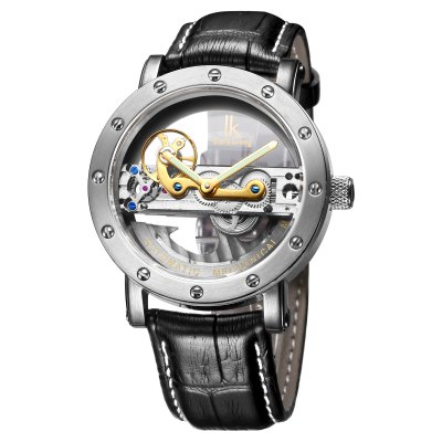 IK Business Style Automatic Mechanical Men WatchMens Watches<br>IK Business Style Automatic Mechanical Men Watch<br><br>Brand: IK coloring<br>Watches categories: Male table<br>Watch style: Business<br>Available color: Black,Coffee,Light Coffee<br>Movement type: Automatic mechanical watch<br>Shape of the dial: Round<br>Display type: Analog<br>Case material: Stainless Steel<br>Band material: Genuine Leather<br>Clasp type: Pin buckle<br>Special features: Luminous<br>Water resistance : 50 meters<br>Dial size: 4 x 4 x 1.26 cm / 1.57 x 1.57 x 0.50 inches<br>Band size: 26 x 2 cm / 10.24 x 0.79 inches<br>Product weight: 0.067 kg<br>Package weight: 0.117 kg<br>Product size (L x W x H): 26.00 x 4.00 x 1.26 cm / 10.24 x 1.57 x 0.5 inches<br>Package size (L x W x H): 28.00 x 8.00 x 3.50 cm / 11.02 x 3.15 x 1.38 inches<br>Package Contents: 1 x IK Automatic Mechanical Men Watch