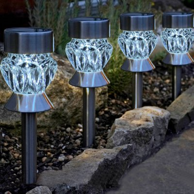 4PCS Solar Garden Path LED Stake LightOutdoor Lights<br>4PCS Solar Garden Path LED Stake Light<br><br>Powered source: Battery,Solar<br>Light Type: Outdoor Light,Solar Light<br>Optional Light Color: Colorful,White<br>Features: Light Control,Rechargeable,Waterproof<br>Total LED: 1<br>Solar Panel : 2V 50MA<br>Battery Voltage: 1.2V<br>Battery Capacity: Built-in 600mAh AA Ni-Cd battery<br>Charging time: 8h<br>Product weight: 0.618 kg<br>Package weight: 0.668 kg<br>Product size (L x W x H): 35.00 x 7.50 x 7.50 cm / 13.78 x 2.95 x 2.95 inches<br>Package size (L x W x H): 31.00 x 8.00 x 12.00 cm / 12.2 x 3.15 x 4.72 inches<br>Package Contents: 4 x Solar Stake Light, 1 x English Manual