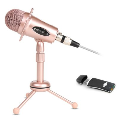 Yanmai Y20B 3.5mm Stereo Microphone + USB External Sound Card