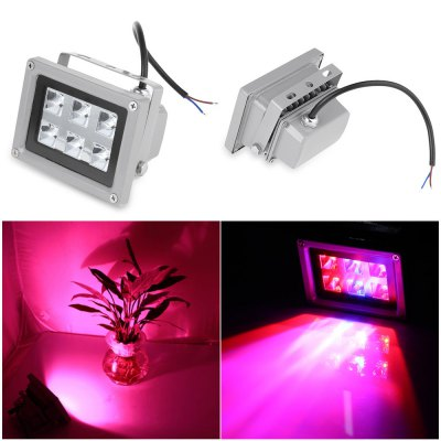 6W 6 LED Grow Lamp Waterproof Hydroponic Plant Floodlight