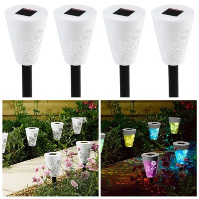 4 x Outdoor Solar LED Path Light